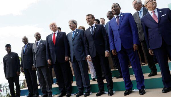 На саммите G7 в Италии, 27 мая 2017