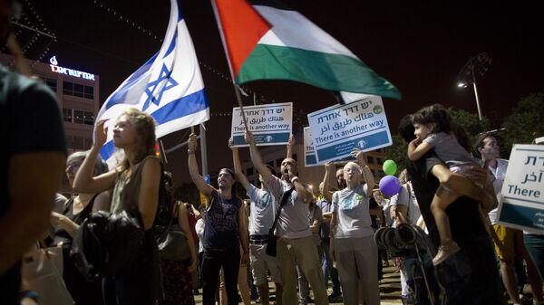 В Тель-Авиве прошла демонстрация под лозунгом Два государства - одна надежда