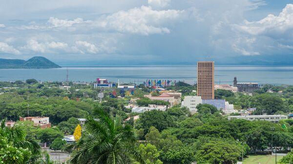 Вид на город Манагуа, Никарагуа. Архивное фото
