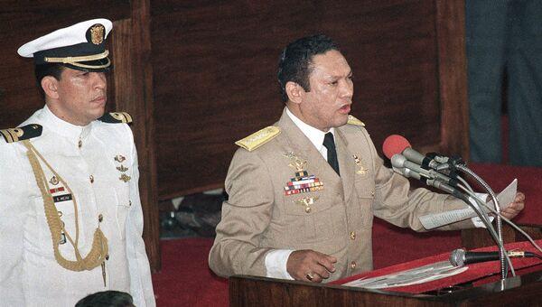 Панамский военный деятель Мануэль Норьега. Архивное фото