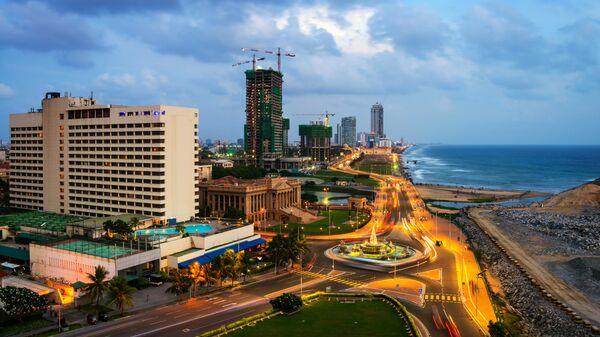 Вид на город Коломбо, Шри Ланка