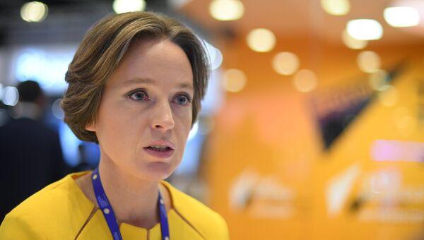 Генеральный директор Аналитического кредитного рейтингового агентства Екатерина Трофимова на Санкт-Петербургском международном экономическом форуме 2017. Архивное фото