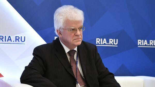 Постоянный представитель Российской Федерации при Европейском союзе Владимир Чижов на Санкт-Петербургском международном экономическом форуме 201