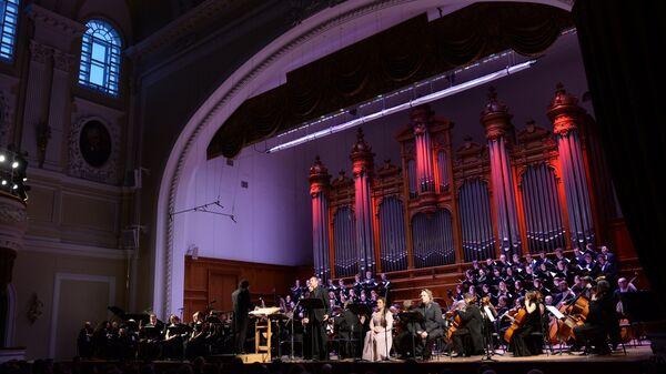 Концерт в Большом зале Московской консерватории. Архивное фото