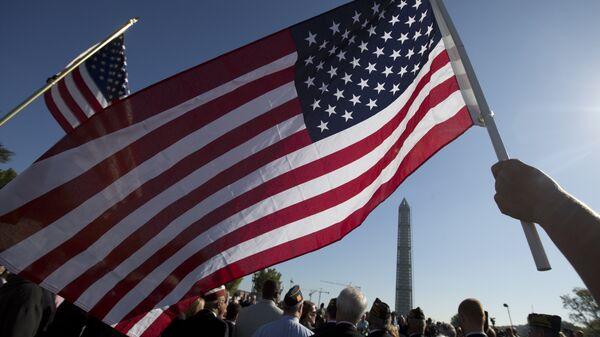 Участники демонстрации в Вашингтоне, США. Архивное фото