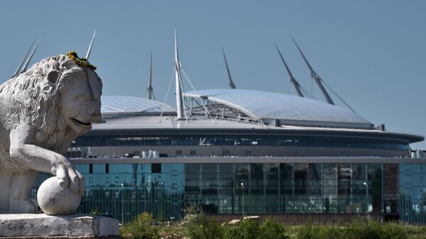 Стадион Санкт-Петербург Арена на Крестовском острове в Санкт-Петербурге. Архивное фото