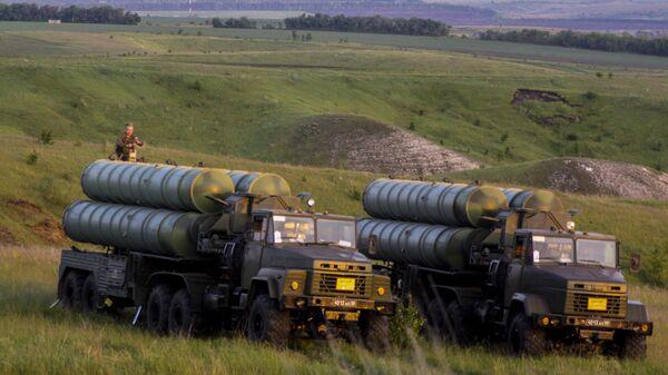 Учения войск ПВО с участием дивизиона ЗРК С-300