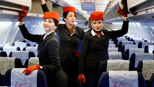 Стюардессы авиакомпании ВИМ-Авиа. Архивное фото
