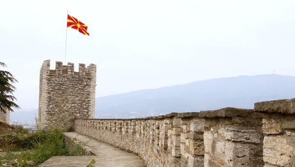 Флаг Македонии. Архивное фото