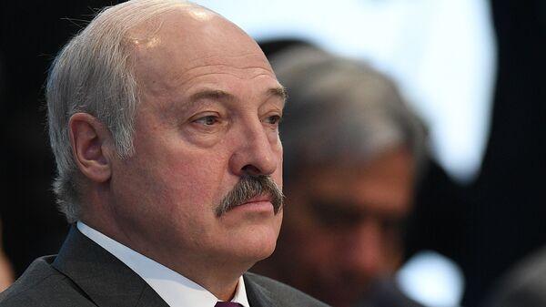 Президент Белоруссии Александр Лукашенко на заседании совета глав государств - членов ШОС. 9 июня 2017