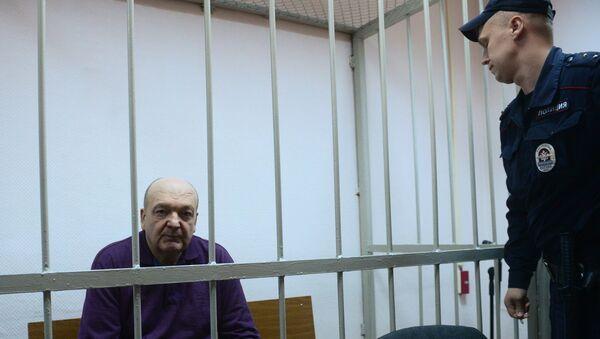 Бывший директор ФСИН России Александр Реймер в Замоскворецком суде Москвы. 13 июня 2017