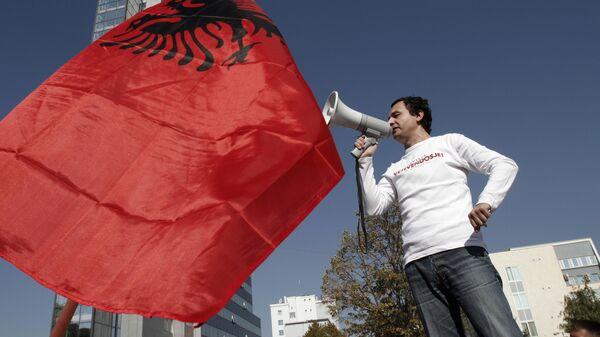 Лидер радикального косовско-албанского движения Самоопределение Альбин Курти