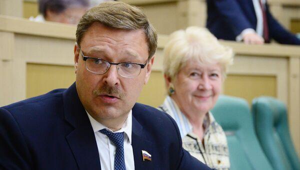 Константин Косачев на заседании Совета Федерации РФ. Архивное фото