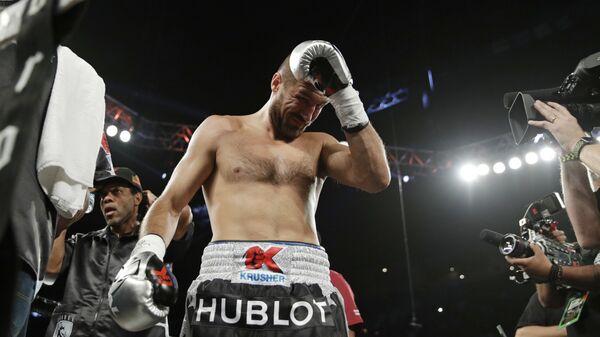Сергей Ковалев во время чемпионата по боксу в полутяжелом весе. 17 июня 2017