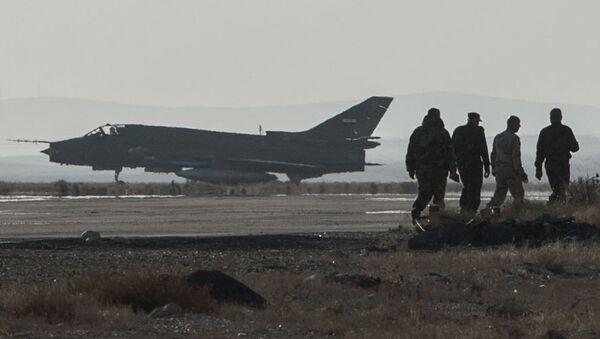 Самолет Су-22 сирийских ВВС. Архивное фото