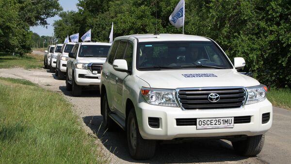 Кортеж патрулей миссии ОБСЕ в ДНР. Архивное фото