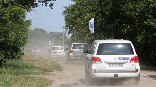 Кортеж патрулей миссии ОБСЕ в Донбассе