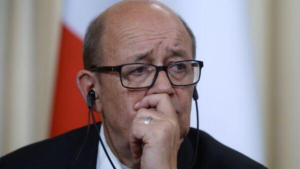 Встреча глав МИД РФ и Франции С. Лаврова и Ж.-И. Ле Дриана