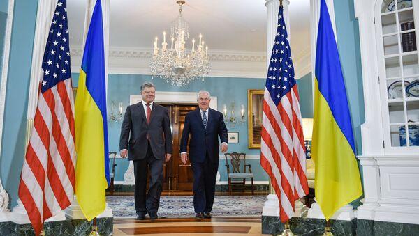 Встреча Петра Порошенко и Рекса Тиллерсона в Вашингтоне