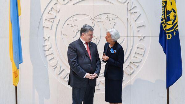 Президент Украины Петр Порошенко и глава МВФ Кристин Лагард во время встречи. 20 июня 2017