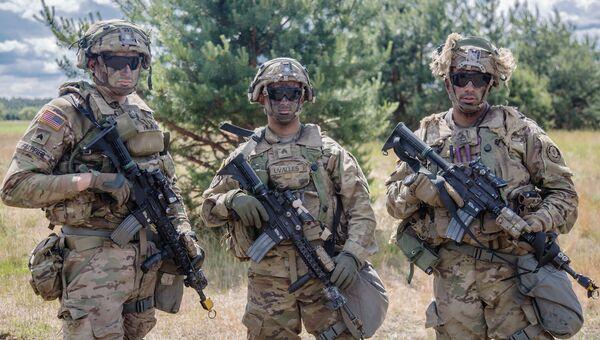 Солдаты армии США во время учений НАТО Saber Strike 2017 в Польше. 15 июня 2017