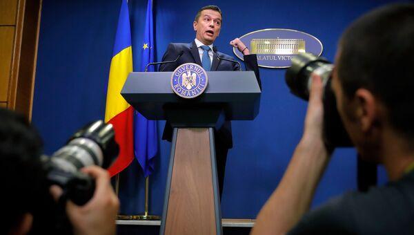 Премьер-министр Румынии Сорин Гриндяну. 15 июня 2017