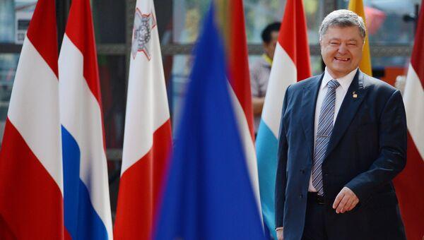 Президент Украины Петр Порошенко на встрече Украина - ЕС перед началом саммита государств и правительств стран-участниц Европейского союза в Брюсселе. 22 июня 2017