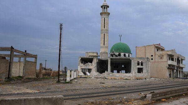 Разрушенное здание мечети в провинции Хама