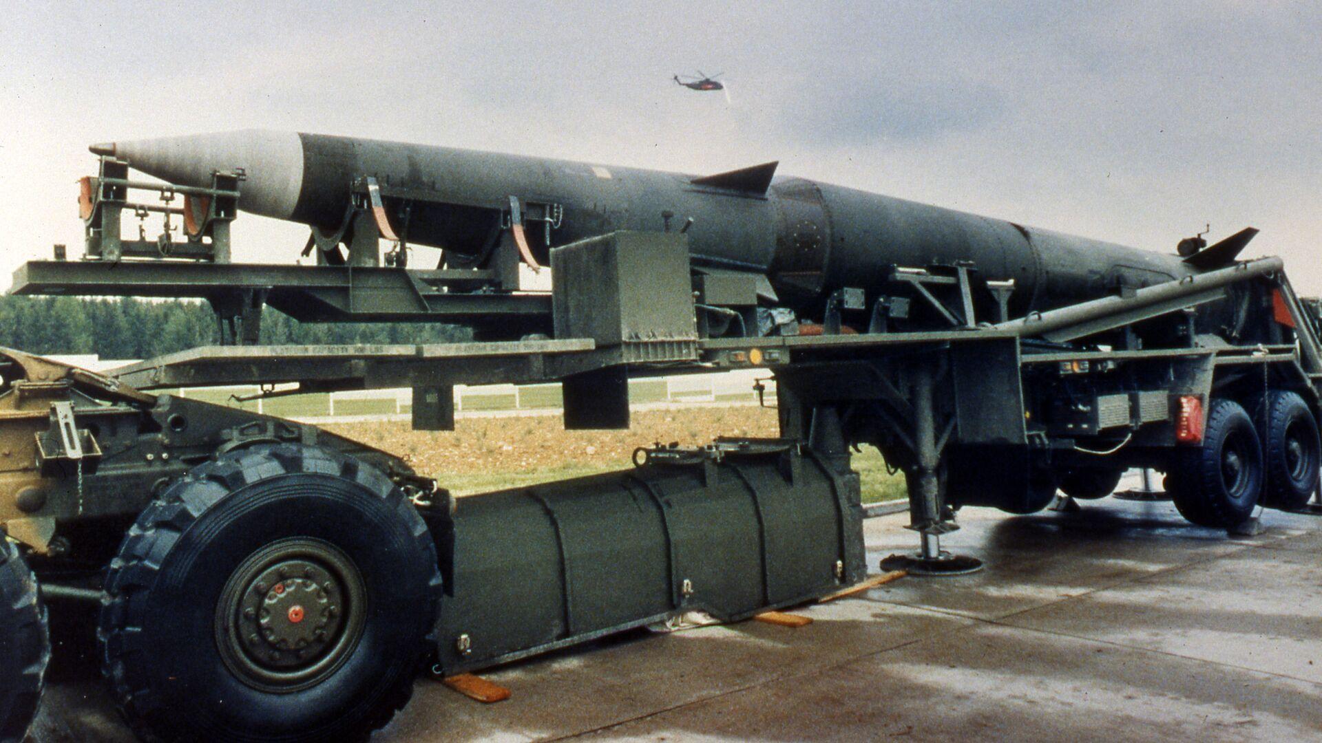 Американская баллистическая ракета средней дальности Першинг-2 - РИА Новости, 1920, 26.08.2020