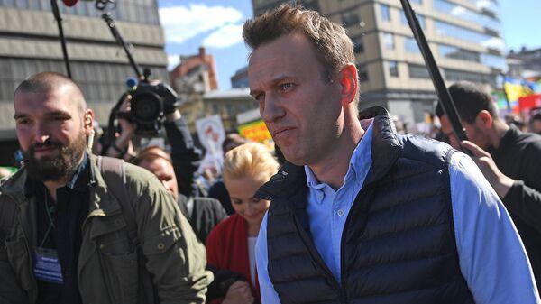 Алексей Навальный на проспекте Академика Сахарова. Архивное фото