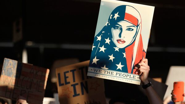 Акция протеста против иммиграционного указа Трампа. Архивное фото