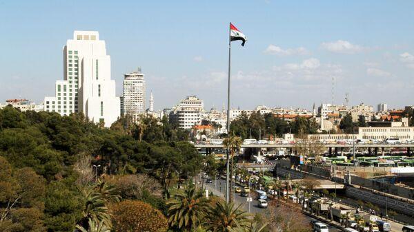Флаг Сирии в Дамаске. Архивное фото
