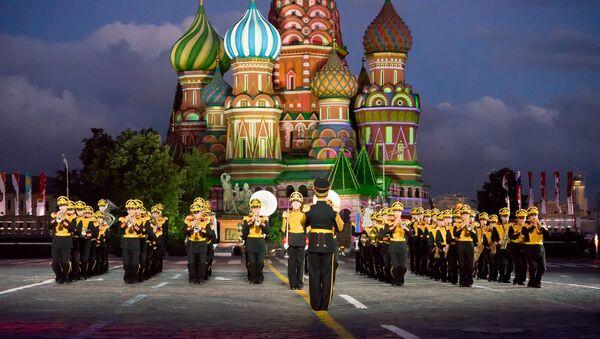 Центральный военный оркестр Министерства обороны на фестивале Спасская башня. Архивное фото