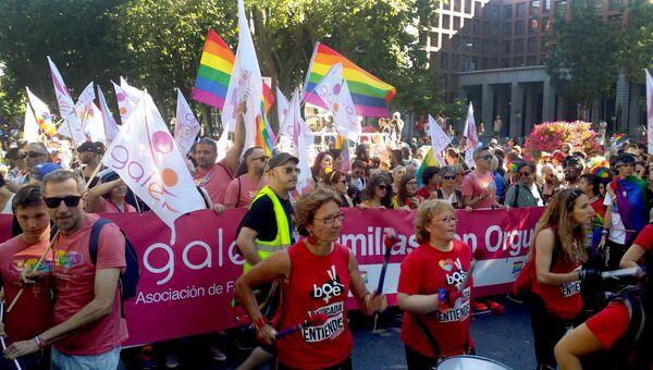 Гей-парад в Мадриде. 1 июля 2017