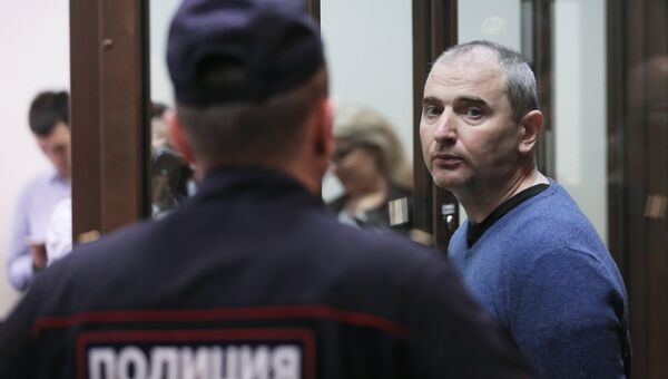 Лидер хакерской группы Шалтай-Болтай Владимир Аникеев во время оглашения приговора в Московском городском суде. 6 июля 2017