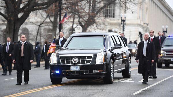 Автомобиль Cadillac One президента США Дональда Трампа. Архивное фото