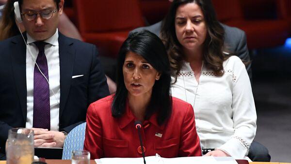 Постпредставитель США при ООН Никки Хейли. Архивное фото