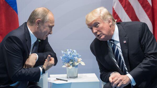 Президент РФ В. Путин принимает участие в саммите Группы двадцати в Гамбурге. Архивное фото