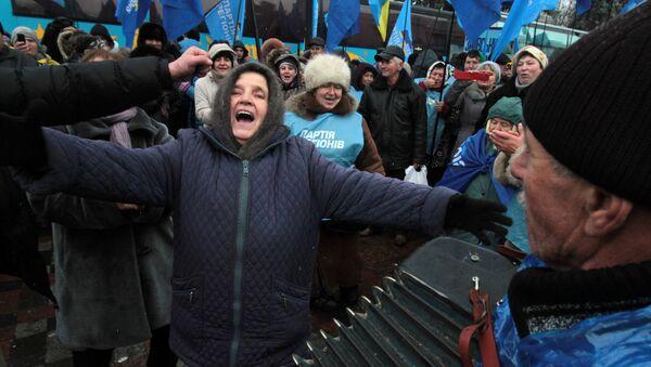 Митинг Партии регионов у здания Верховной Рады в Киеве. Архивное фото