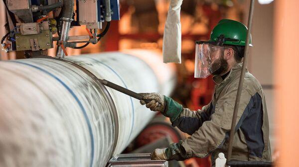 Подготовительные мероприятия к сварочным работам по строительству морского газопровода Турецкий поток