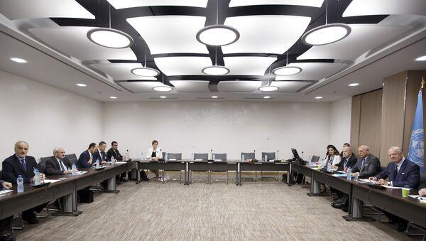 Седьмой раунд межсирийских переговоров в Женеве. Архивное фото