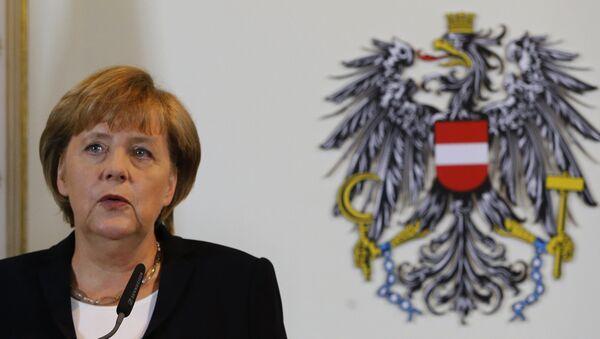 Канцлер Германии Ангела Меркель во время официального визита в Вену. Архивное фото