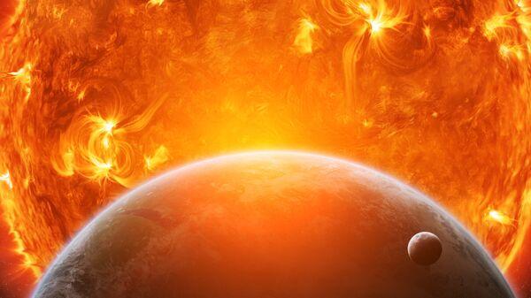 Так художник представил себе превращение Солнца в красного гиганта