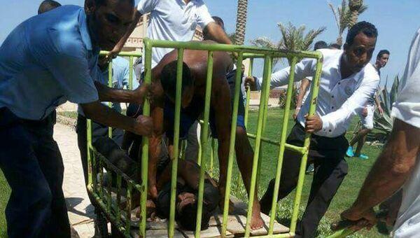 Задержание нападавшего в египетском отеле. 14 июля 2017