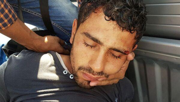 Мужчина, напавший на туристов в отеле в Хургаде, Египет. 14 июля 2017