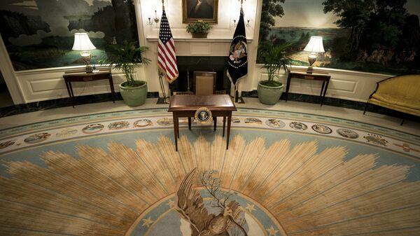 Вид Дипломатической приемной в Белом доме в Вашингтоне