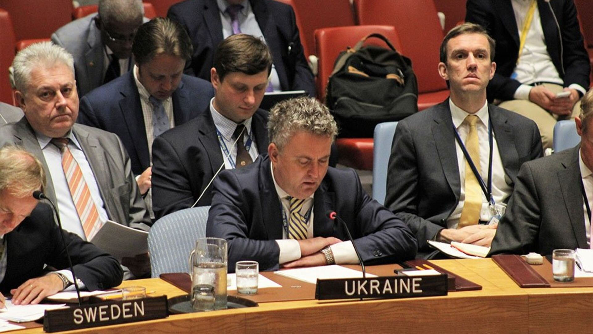 Заместитель министра иностранных дел Украины Сергей Кислица на заседании Совета Безопасности ООН по Африке. 19 июля 2017 - РИА Новости, 1920, 23.02.2021