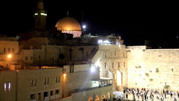 Храмовая гора с Стена плача в Иерусалиме. Архивное фото
