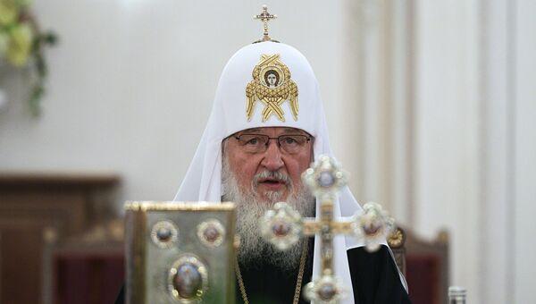Патриарх Кирилл во время заседания Священного Синода в Санкт-Петербурге. 29 июля 2017