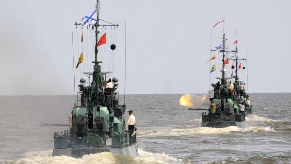 Катера проекта Шмель Каспийской флотилии. Архивное фото